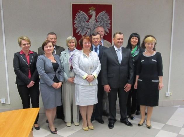 Lauraci etapu regionalnego z terenu działania PT KRUS w Zambrowie wraz z organizatorami