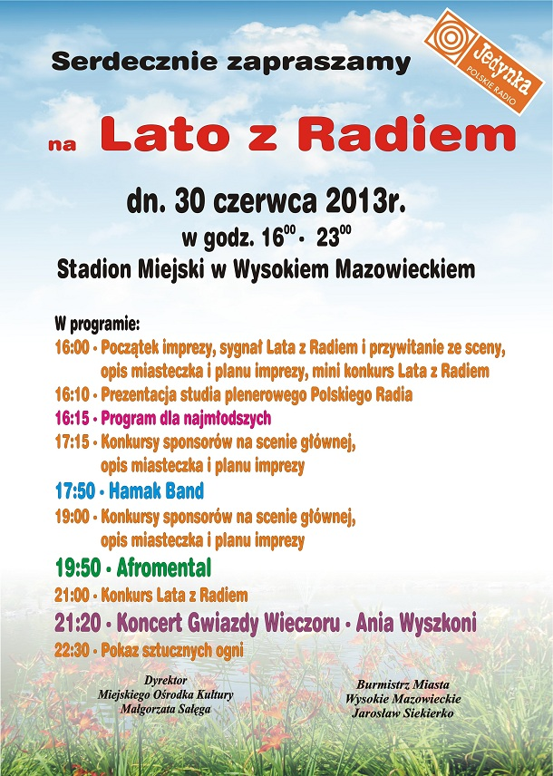 Program Lato z Radiem 2013