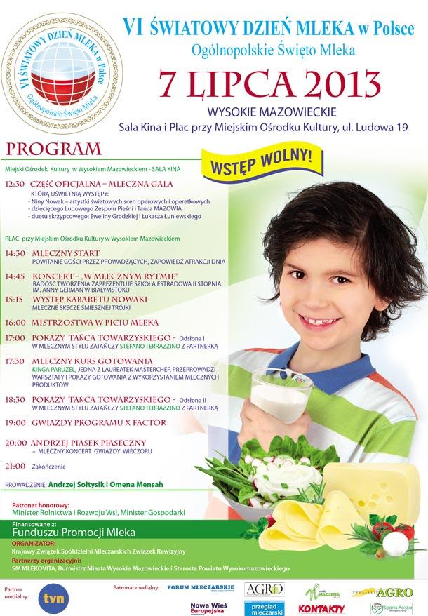 Plakat Święto Mleka 2013
