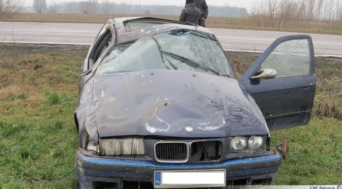 Wojny Pogorzel: Jechał nietrzeźwy i bez prawa jazdy – dachował