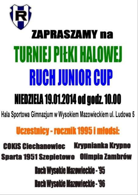 Plakat Ruch Junior Cup