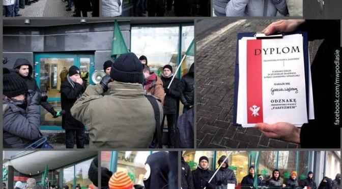 Białystok: Czy kartki świąteczne do kombatantów to jest faszyzm?