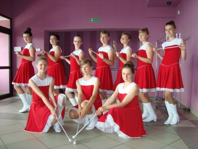 Mażoretki z GOK w Czyżewie