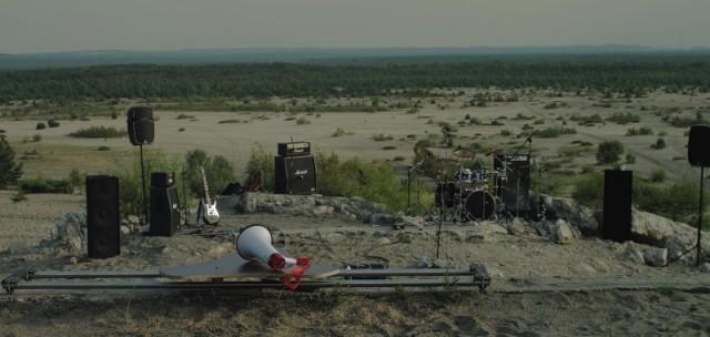 Sprzęt zespołu na pustyni