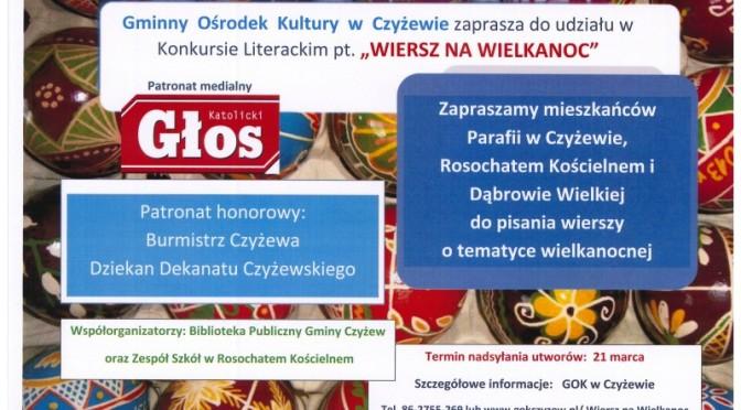 """III Konkurs Literacki ph. """"Wiersz na Wielkanoc"""""""