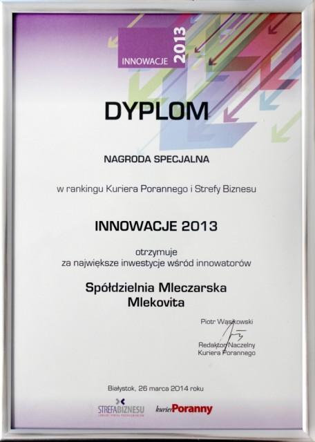 Dyplom Innowator 2014