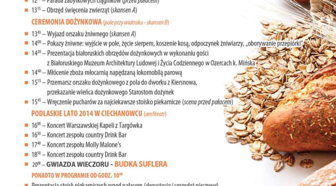 Święto Chleba w Ciechanowcu – zapowiedź imprez i koncertów