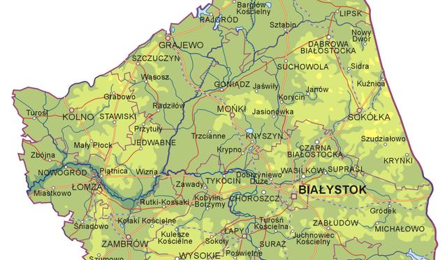 Podlaskie mapa