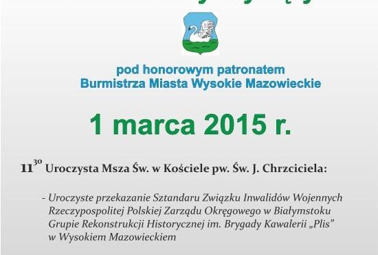 Plan obchodów Dnia Żołnierzy Wyklętych w Wysokiem Mazowieckiem